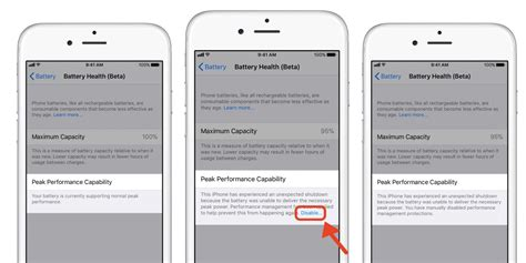 iphone battery health how to check battery health and disable battery performance throttling in ios 11 3 beta 9to5mac