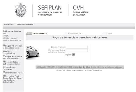 adeudo vehicular chihuahua por numero de serie tenencia en veracruz consulta y pago de adeudo vehicular