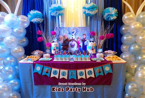 frozen birthday theme decorations hub disney frozen themed airah s 7th