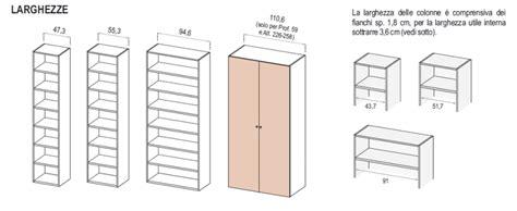 armadi misure le misure degli armadi dielle