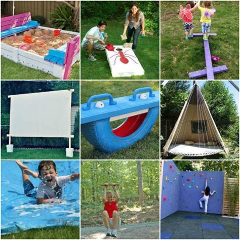 backyard equipment for kids 20 awesome diy outdoor play equipment for kids