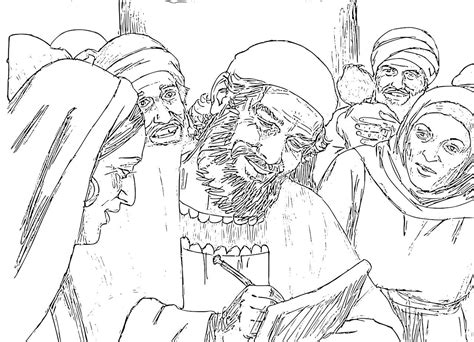 coloring pages zechariah and elizabeth the birth of the baptist foretold coloring pages