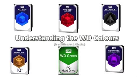 western digital color codes vid every wd colour explained in just 5 mins
