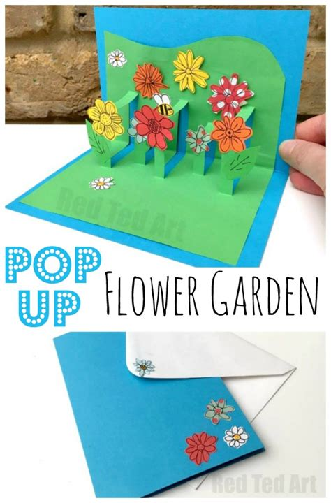 How To Make Pop Up Flowers Card In Paper - 3d flower card diy pop up cards for ted s