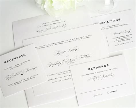 traditional wedding invite text traditional wedding invitation script gray white black script wedding invites simple