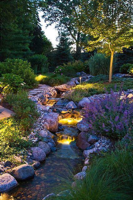 beautiful backyard garden beautiful garden idea i would love to have a stream