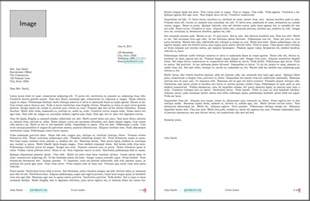 two page cover letter header and footer in all pages of letter class newlfm