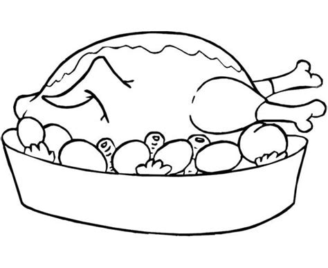 roast turkey coloring page roasted chicken food coloring pages bulk color