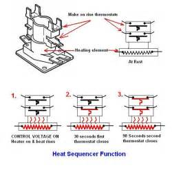 Electric heat sequencer fan relay diagram also electric water heater