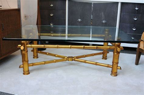 Gold Bamboo Coffee Table Regency Gold Bamboo Coffee Table For Sale At 1stdibs
