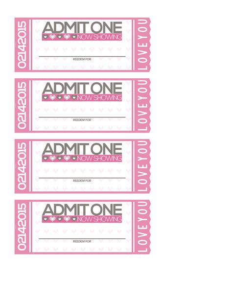 printable movie tickets coupons free tickets to love valentine coupon book shesaved 174
