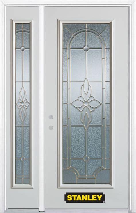 48 Inch Exterior Door Stanley Doors 48 Inch X 82 Inch Trellis Lite White Steel Entry Door With Sidelite And