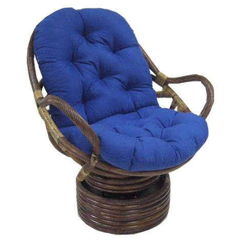 blazing needles 48 x 24 swivel rocker cushion papasan