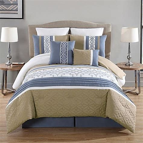 madison park connell 7 piece comforter set update your bedroom s decor with the chic and modern