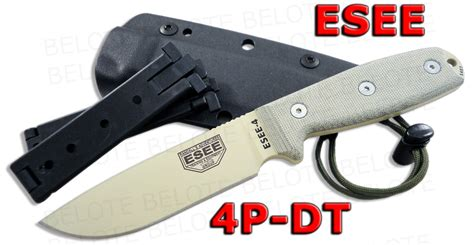 esee plain edge od blade with kydex sheath esee model 4 desert blade plain edg micarta w od