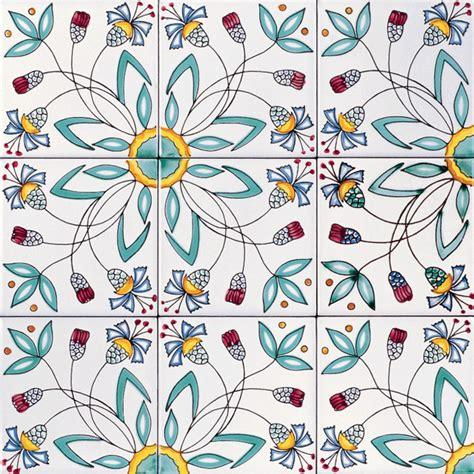 fiore stilizzato ceramica artistica vietrese de maio dalla