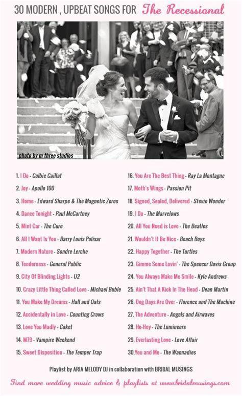 Wedding Music: 30 Modern, Upbeat Recessional Songs