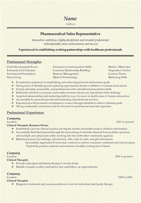 pharmaceutical representative resume templates krida info