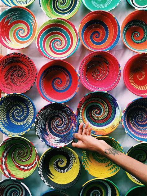 colorful woven baskets colorful woven baskets in soweto south africa y travel