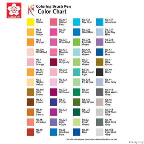 sakura koi coloring brush     colours