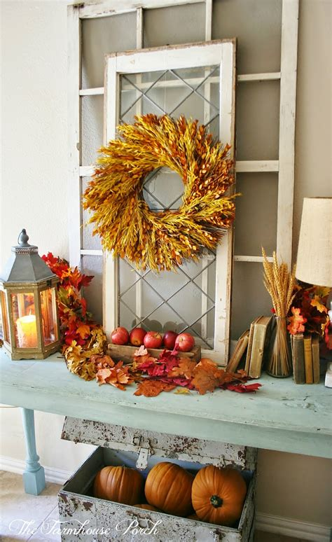 fall decorations home the farmhouse porch