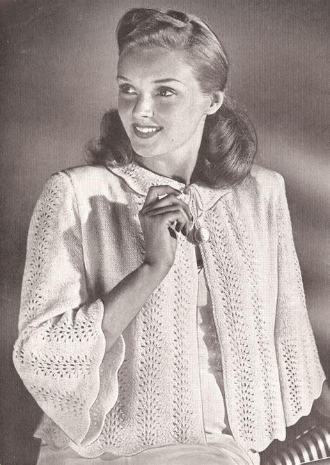 free knitting pattern bed jacket vintage knitting pattern to make bed jacket sweater knit