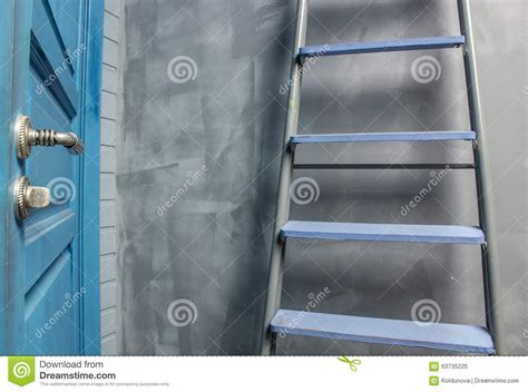 Apartment Door Replacement Cost Repair In An Apartment By Using A Stepladder Stock Photo