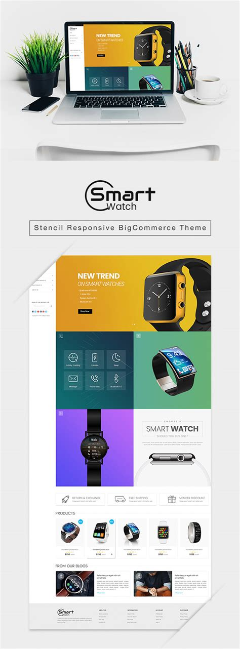 Materient Smart Watches Material Design Stencil Bigcommerce Theme By Tvlgiao Bigcommerce Stencil Templates