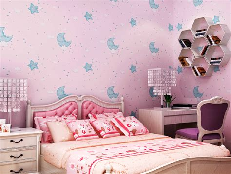 wallpaper for girls bedroom warm girls bedroom with pink wallpaper new home