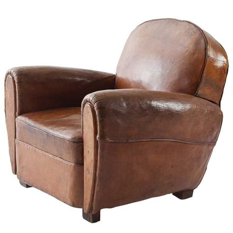 armchair club beautiful french leather club at 1stdibs