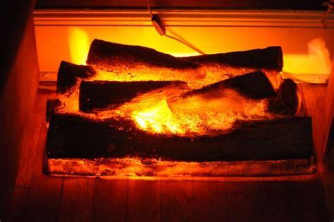 Burning Log Fireplaces by Vintage Faux Fireplace Log Light Burning Logs