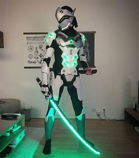 glowing overwatch genji cosplay adafruit industries