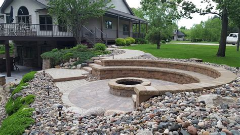 outdoor patio firepit cannon lake firepit patio outdoor kitchen ns landscapes