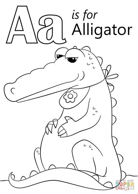 alligator coloring pages preschool letter a is for alligator coloring page free printable