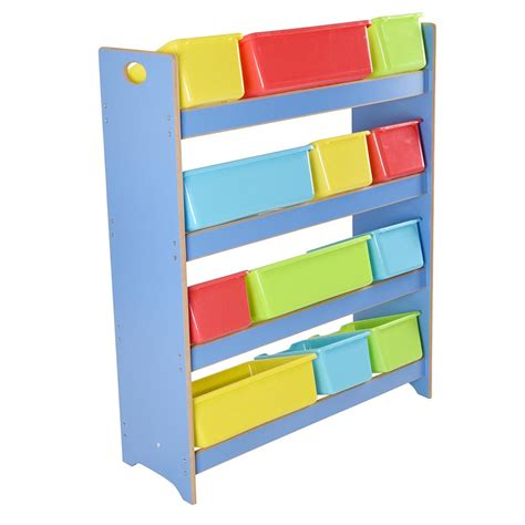 toy storage bookcase with tubs modern storage bin dwell on design home tours images