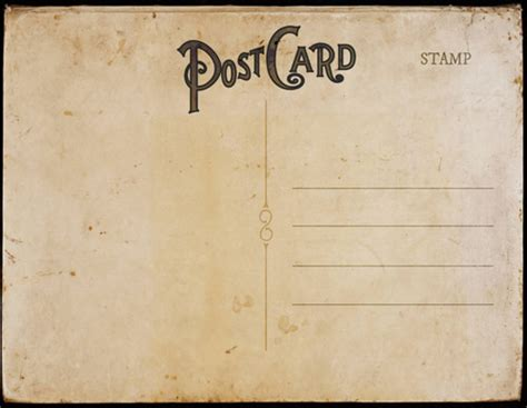 Vintage Postcard Templates Retro Postcard Template