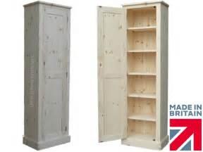 solid wood slim cupboard linen pantry hallway