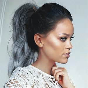 rihanna grey hair color rihanna m 233 xico on quot rihanna greyhair edit