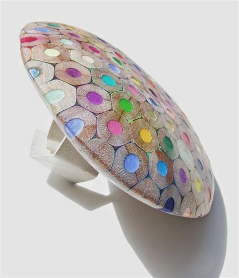 colored pencil ring the trend spot colored pencil jewelry