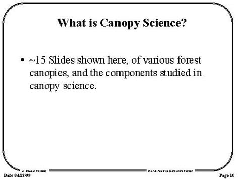 What Is Canopy What Is Canopy Science