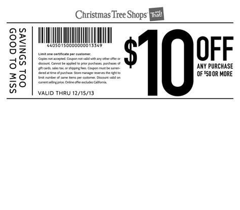 tree farm coupon tree shop 10 50 printable coupon