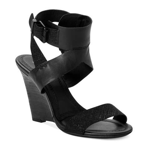 calvin klein wedge sandals calvin klein ck womens maisi wedge sandals in black