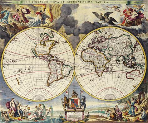 antique maps antique maps of the worlddouble hemisphere mapmoses pittc