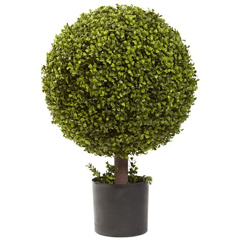 Fake Water For Vase 27 Quot Boxwood Ball Topiary Silk Specialties