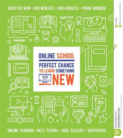 design your dream school online online school education design concept stock vector