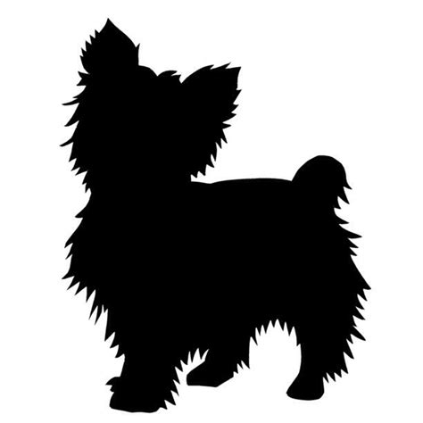 yorkie silhouette possible tattoo tattoo pinterest
