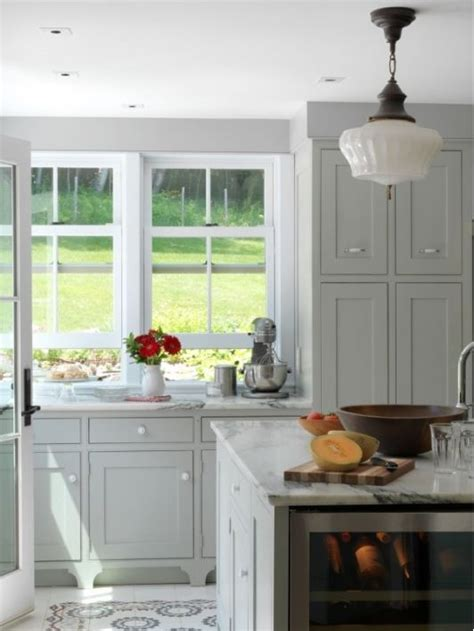 Light Gray Cabinets by Light Grey Cabinets And Carrara Counters For The Home