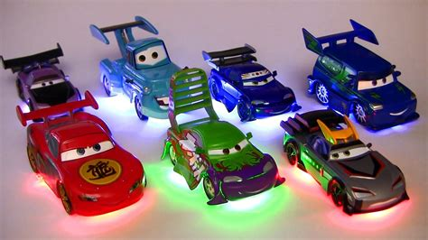 tuner cars cars movie light up deluxe die cast set tuners dj wingo lightning