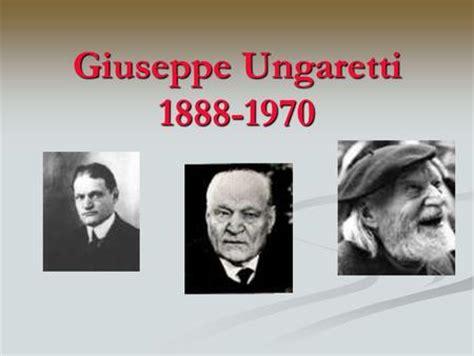 m illumino d immenso quasimodo giuseppe ungaretti la vita pensiero e poetica opere