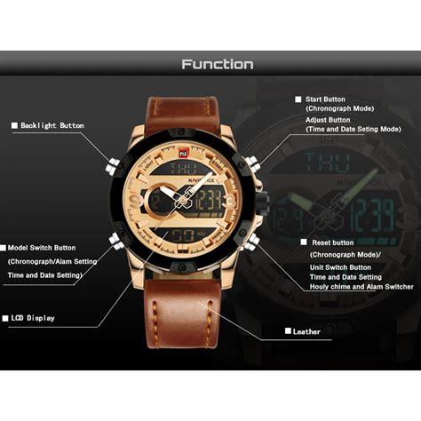 Jam Tangan Navi 9080 1 navi jam tangan analog digital pria 9097 golden